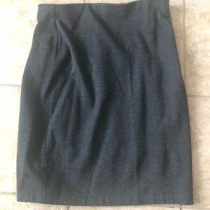 Grace gray stretchy pencil skirt